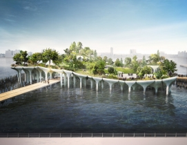 'Floating' park on New York's Hudson River moves one step closer to reality