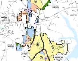 Chatham Park plan, courtesy Pittsboro.gov