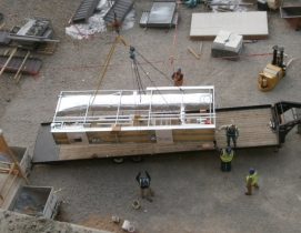 The contractor implemented advanced prefabrication measures on the 360-bed Exemp