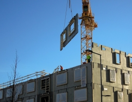 Prefabricated construction site