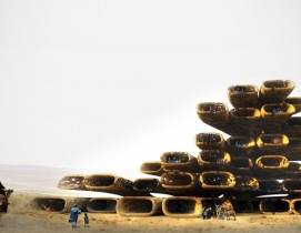 French firm proposes sand and bacteria as building material in the Sahara