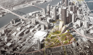 BIG plans for Pittsburgh: Lower Hill District master plan evokes hilly topography